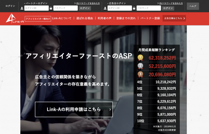 Link-Aの公式サイト